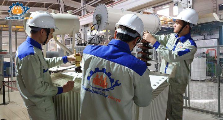 Lọc dầu cách điện đối với máy biến áp mới.